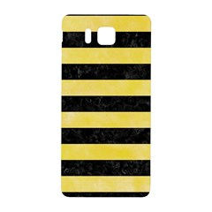 Stripes2 Black Marble & Yellow Watercolor Samsung Galaxy Alpha Hardshell Back Case