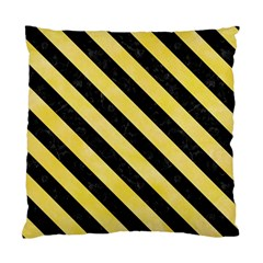 Stripes3 Black Marble & Yellow Watercolor Standard Cushion Case (one Side)