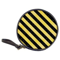 Stripes3 Black Marble & Yellow Watercolor Classic 20 Cd Wallets