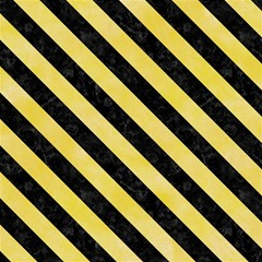 Stripes3 Black Marble & Yellow Watercolor Magic Photo Cubes