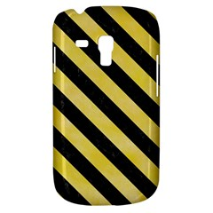 Stripes3 Black Marble & Yellow Watercolor Galaxy S3 Mini