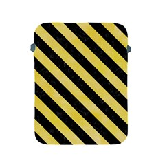 Stripes3 Black Marble & Yellow Watercolor Apple Ipad 2/3/4 Protective Soft Cases