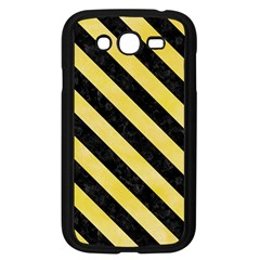 Stripes3 Black Marble & Yellow Watercolor Samsung Galaxy Grand Duos I9082 Case (black)