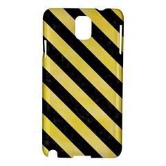 Stripes3 Black Marble & Yellow Watercolor Samsung Galaxy Note 3 N9005 Hardshell Case