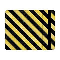 Stripes3 Black Marble & Yellow Watercolor Samsung Galaxy Tab Pro 8 4  Flip Case