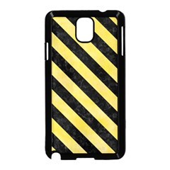 Stripes3 Black Marble & Yellow Watercolor Samsung Galaxy Note 3 Neo Hardshell Case (black)