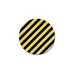 Stripes3 Black Marble & Yellow Watercolor (r) Golf Ball Marker (4 Pack)