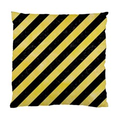 Stripes3 Black Marble & Yellow Watercolor (r) Standard Cushion Case (two Sides)