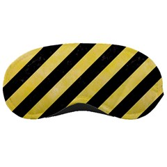 Stripes3 Black Marble & Yellow Watercolor (r) Sleeping Masks