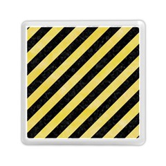 Stripes3 Black Marble & Yellow Watercolor (r) Memory Card Reader (square)