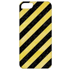 Stripes3 Black Marble & Yellow Watercolor (r) Apple Iphone 5 Classic Hardshell Case