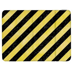 Stripes3 Black Marble & Yellow Watercolor (r) Samsung Galaxy Tab 7  P1000 Flip Case