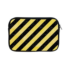 Stripes3 Black Marble & Yellow Watercolor (r) Apple Ipad Mini Zipper Cases