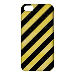 Stripes3 Black Marble & Yellow Watercolor (r) Apple Iphone 5c Hardshell Case