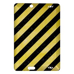 Stripes3 Black Marble & Yellow Watercolor (r) Amazon Kindle Fire Hd (2013) Hardshell Case