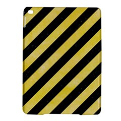 Stripes3 Black Marble & Yellow Watercolor (r) Ipad Air 2 Hardshell Cases