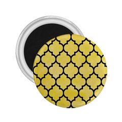 Tile1 Black Marble & Yellow Watercolor 2 25  Magnets