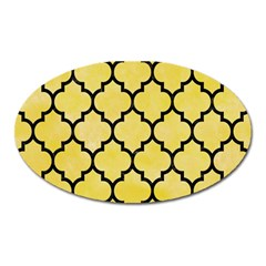 Tile1 Black Marble & Yellow Watercolor Oval Magnet