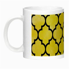 Tile1 Black Marble & Yellow Watercolor Night Luminous Mugs