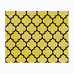 Tile1 Black Marble & Yellow Watercolor Small Glasses Cloth (2 Side)
