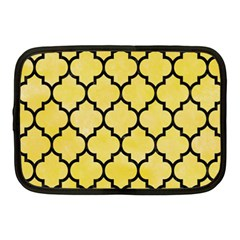 Tile1 Black Marble & Yellow Watercolor Netbook Case (medium)