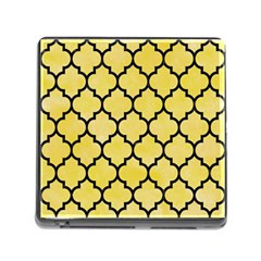 Tile1 Black Marble & Yellow Watercolor Memory Card Reader (square)