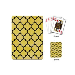 Tile1 Black Marble & Yellow Watercolor Playing Cards (mini)