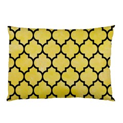 Tile1 Black Marble & Yellow Watercolor Pillow Case (two Sides)