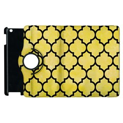 Tile1 Black Marble & Yellow Watercolor Apple Ipad 3/4 Flip 360 Case