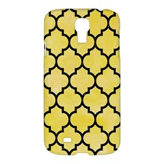 Tile1 Black Marble & Yellow Watercolor Samsung Galaxy S4 I9500/i9505 Hardshell Case
