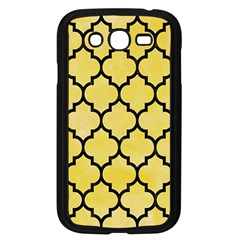 Tile1 Black Marble & Yellow Watercolor Samsung Galaxy Grand Duos I9082 Case (black)