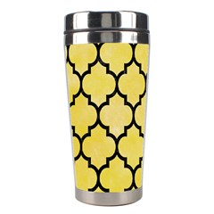 Tile1 Black Marble & Yellow Watercolor Stainless Steel Travel Tumblers