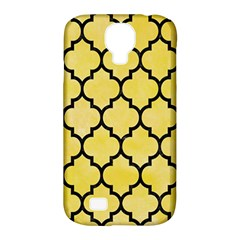 Tile1 Black Marble & Yellow Watercolor Samsung Galaxy S4 Classic Hardshell Case (pc+silicone)
