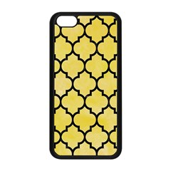 Tile1 Black Marble & Yellow Watercolor Apple Iphone 5c Seamless Case (black)
