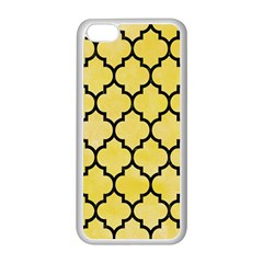 Tile1 Black Marble & Yellow Watercolor Apple Iphone 5c Seamless Case (white)
