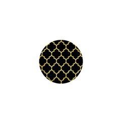 Tile1 Black Marble & Yellow Watercolor (r) 1  Mini Magnets