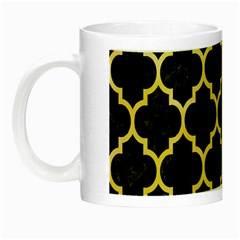 Tile1 Black Marble & Yellow Watercolor (r) Night Luminous Mugs
