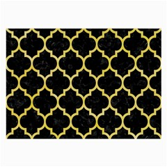 Tile1 Black Marble & Yellow Watercolor (r) Large Glasses Cloth (2 Side)