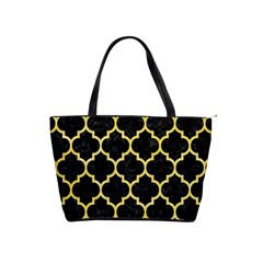 Tile1 Black Marble & Yellow Watercolor (r) Shoulder Handbags