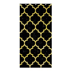 Tile1 Black Marble & Yellow Watercolor (r) Shower Curtain 36  X 72  (stall)