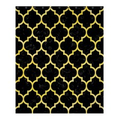 Tile1 Black Marble & Yellow Watercolor (r) Shower Curtain 60  X 72  (medium)