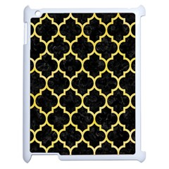 Tile1 Black Marble & Yellow Watercolor (r) Apple Ipad 2 Case (white)