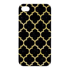 Tile1 Black Marble & Yellow Watercolor (r) Apple Iphone 4/4s Hardshell Case