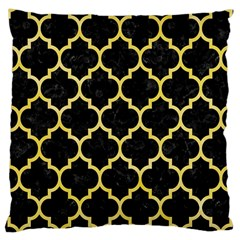 Tile1 Black Marble & Yellow Watercolor (r) Large Cushion Case (two Sides)