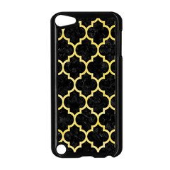 Tile1 Black Marble & Yellow Watercolor (r) Apple Ipod Touch 5 Case (black)