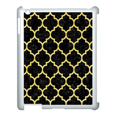Tile1 Black Marble & Yellow Watercolor (r) Apple Ipad 3/4 Case (white)