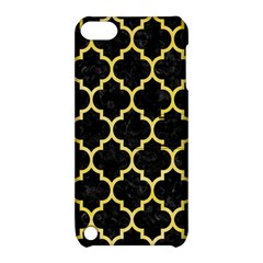 Tile1 Black Marble & Yellow Watercolor (r) Apple Ipod Touch 5 Hardshell Case With Stand