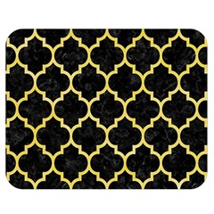 Tile1 Black Marble & Yellow Watercolor (r) Double Sided Flano Blanket (medium)