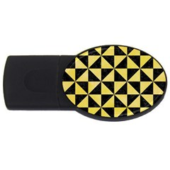 Triangle1 Black Marble & Yellow Watercolor Usb Flash Drive Oval (2 Gb)