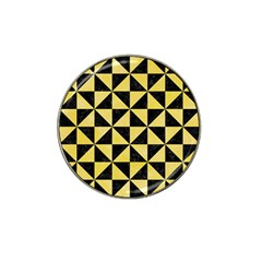 Triangle1 Black Marble & Yellow Watercolor Hat Clip Ball Marker (10 Pack)